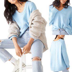NEW Free People Brookside Tunic Sweater Blue $128